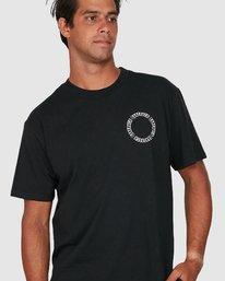 3 Baker Rvca Short Sleeve Tee Black R106068 RVCA