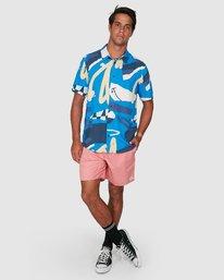5 Ultrablue Short Sleeve Shirt Blue R106181 RVCA