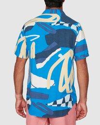 2 Ultrablue Short Sleeve Shirt Blue R106181 RVCA