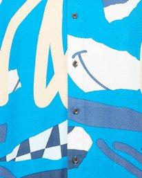 4 Ultrablue Short Sleeve Shirt Blue R106181 RVCA