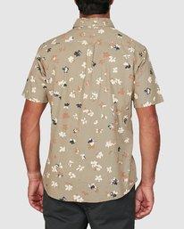 2 Tourist Short Sleeve Shirt Yellow R106186 RVCA