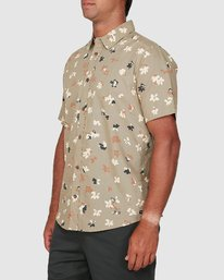 1 Tourist Short Sleeve Shirt Yellow R106186 RVCA