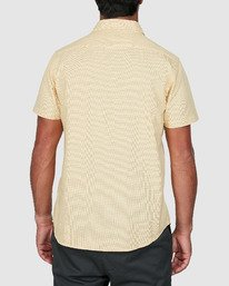 2 Crushed Check Short Sleeve Shirt Yellow R106187 RVCA