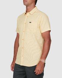 1 Crushed Check Short Sleeve Shirt Yellow R106187 RVCA