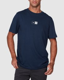 0 Upside Short Sleeve Tee Blue R107042 RVCA
