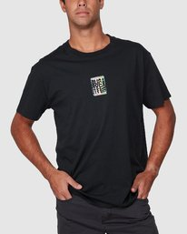 0 Stagger Short Sleeve Tee  R107044 RVCA