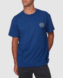 0 Heat Wave Short Sleeve Tee Blue R107047 RVCA