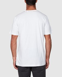 3 All Brand Short Sleeve Tee White R107049 RVCA