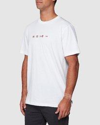 2 All Brand Short Sleeve Tee White R107049 RVCA