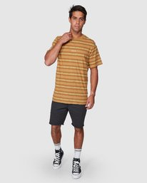 5 Warp Stripe Short Sleeve Tee  R107060 RVCA
