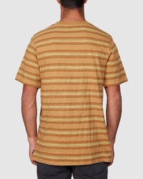 3 Warp Stripe Short Sleeve Tee  R107060 RVCA