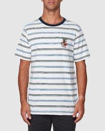 1 Aloha Stripe Short Sleeve Tee  R107061 RVCA