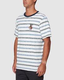 2 Aloha Stripe Short Sleeve Tee  R107061 RVCA