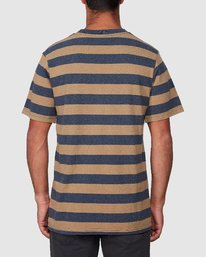 3 Shallow End Stripe Short Sleeve Tee  R107063 RVCA