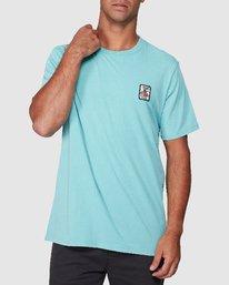 0 DMOTE Aloha Short Sleeve Tee Blue R107065 RVCA