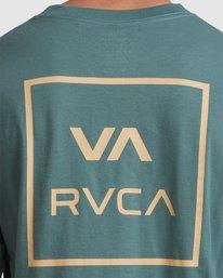 3 VA All The Ways Long Sleeve Tee Green R107091 RVCA