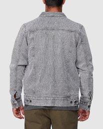 3 Daggers Denim Stripe Jacket Grey R107435 RVCA