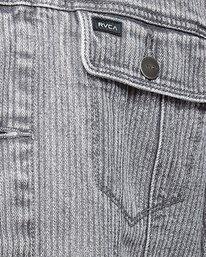 4 Daggers Denim Stripe Jacket Grey R107435 RVCA