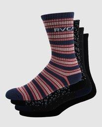 0 RVCA Multi Sock - 4 Pack  R107601 RVCA