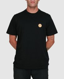 0 Rave Ball Short Sleeve Tee Black R108046 RVCA
