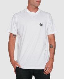 0 Rave Ball Short Sleeve Tee White R108046 RVCA