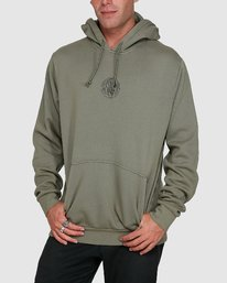 0 Rave Ball Pullover Hoodie Green R108153 RVCA