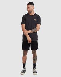 4 Cambridge Short Sleeve Tee Black R115041 RVCA