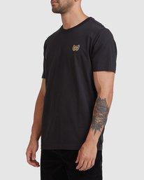 1 Cambridge Short Sleeve Tee Black R115041 RVCA