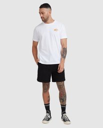 4 Home Field Short Sleeve Tee White R115042 RVCA