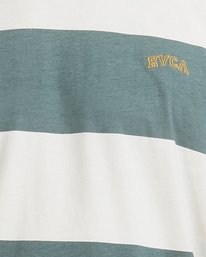 3 Harris Stripe Short Sleeve Tee Green R115043 RVCA