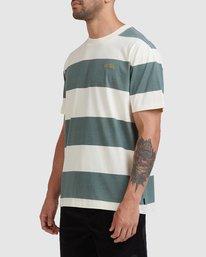1 Harris Stripe Short Sleeve Tee Green R115043 RVCA