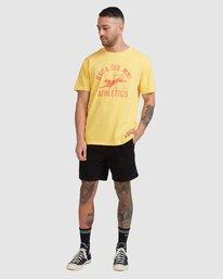 4 Athletic Short Sleeve Tee White R115044 RVCA