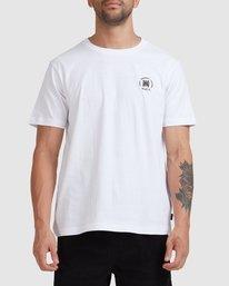 2 Rvca Seal Short Sleeve Tee White R115047 RVCA
