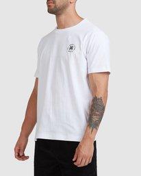1 Rvca Seal Short Sleeve Tee White R115047 RVCA