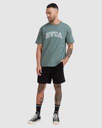 4 Rvca Teamster Short Sleeve Tee Green R115048 RVCA
