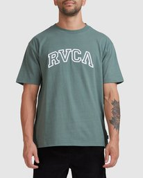 0 Rvca Teamster Short Sleeve Tee Green R115048 RVCA