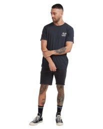 4 Land Of The Free Short Sleeve Tee Black R115053 RVCA