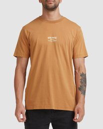 2 Worldwide Short Sleeve Tee Yellow R115056 RVCA