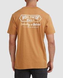 0 Worldwide Short Sleeve Tee Yellow R115056 RVCA