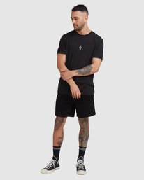 4 Trippy Times Short Sleeve Tee Black R115057 RVCA