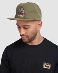 6 Exotic Snapback cap Green R115561 RVCA