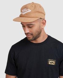 6 Script Strapback Cap Yellow R115564 RVCA