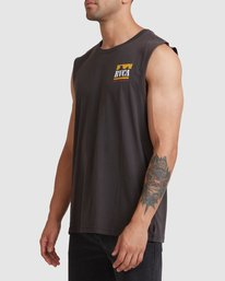 1 PACKETS MUSCLE Black R117001 RVCA