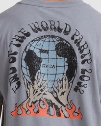 3 WORLD PARTY SHORT SLEEVE  TEE Grey R117052 RVCA
