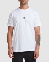0 DOWN THE SPINE SHORT SLEEVE TEE White R117053 RVCA