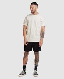 4 Worker Short Sleeve Tee Beige R117059 RVCA