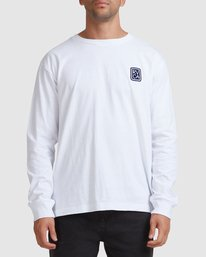 0 Noodles Long Sleeve Tee White R117092 RVCA