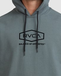 3 Rvca Worker Hoodie Green R117151 RVCA