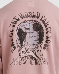 3 WORLD PARTY HOODIE Purple R117153 RVCA