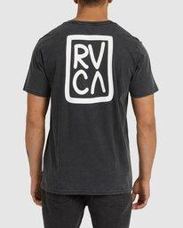 0 STACKER ACID SHORT SLEEVE TEE Black R118045 RVCA